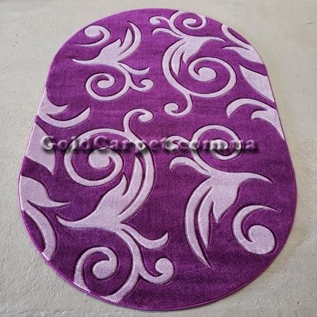 Ковер Legenda 0391 violet овал - фото №1