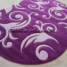 Ковер Legenda 0391 violet овал - фото №3